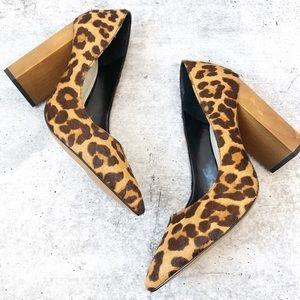 New 1. State Leopard Calf Hair Heels